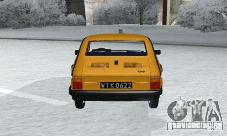 Fiat 126p FL для GTA San Andreas вид сзади