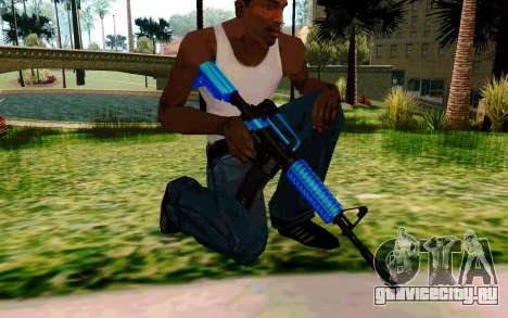 M4 Blue для GTA San Andreas четвёртый скриншот