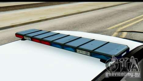 GTA 5 Buffalo S Police SF для GTA San Andreas вид сзади слева