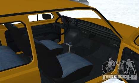 Fiat 126p FL для GTA San Andreas вид снизу