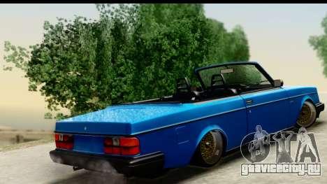 Volvo 242 Cabrio для GTA San Andreas вид слева