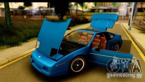 Pontiac Fiero GT G97 1985 IVF для GTA San Andreas вид изнутри
