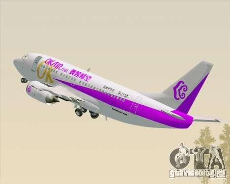 Boeing 737-500 Okay Airways для GTA San Andreas вид сверху