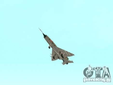 Миг 21 ВВС СССР для GTA San Andreas вид сверху