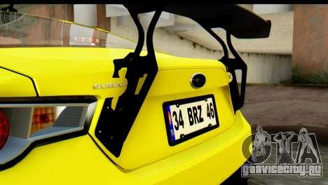 Subaru BRZ 2013 для GTA San Andreas вид изнутри