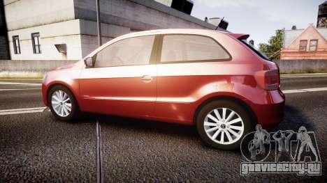 Volkswagen Gol G6 iTrend 2014 rims1 для GTA 4 вид слева