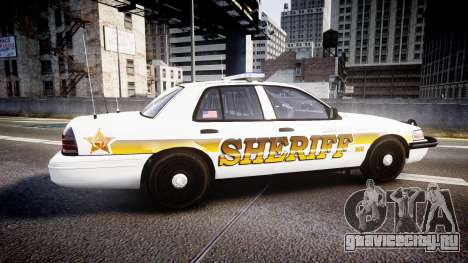 Ford Crown Victoria Sheriff Liberty [ELS] для GTA 4 вид слева