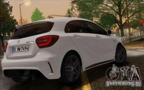 Mercedes-Benz A45 AMG для GTA San Andreas вид изнутри