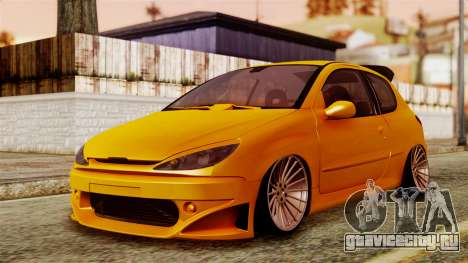 Peugeot 206 Camber Style для GTA San Andreas