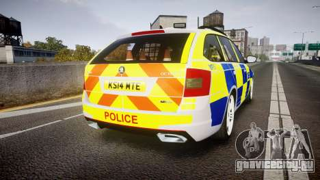 Skoda Octavia Combi vRS 2014 [ELS] Traffic Unit для GTA 4 вид сзади слева