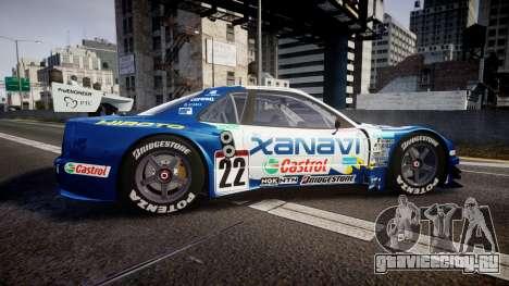 Nissan Skyline R34 2003 JGTC Xanavi Hiroto для GTA 4 вид слева