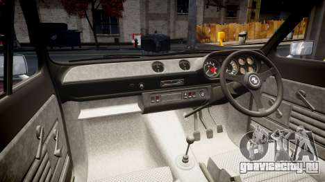 Ford Escort RS1600 PJ22 для GTA 4 вид изнутри