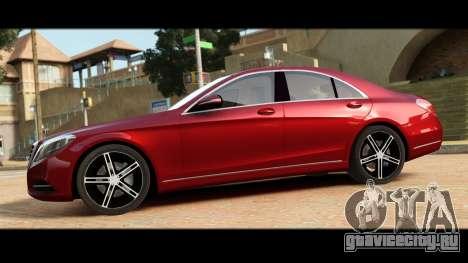 Mercedes-Benz S500 W222 для GTA 4 вид слева
