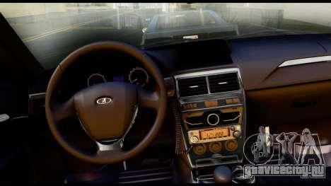 ВАЗ 2170 ДПС ГИБДД для GTA San Andreas вид справа
