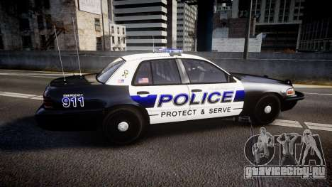Ford Crown Victoria Police Algonquin [ELS] для GTA 4 вид слева