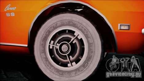 Chevrolet Camaro 350 для GTA San Andreas вид сзади слева