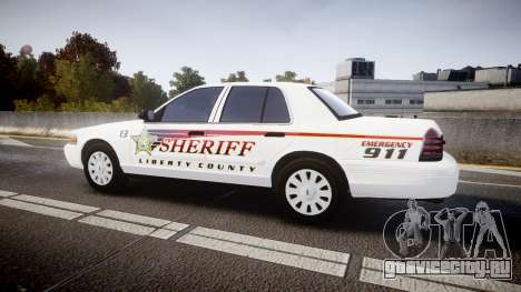 Ford Crown Victoria Sheriff [ELS] rims2 для GTA 4 вид слева