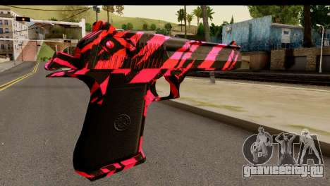 Red Tiger Desert Eagle для GTA San Andreas второй скриншот