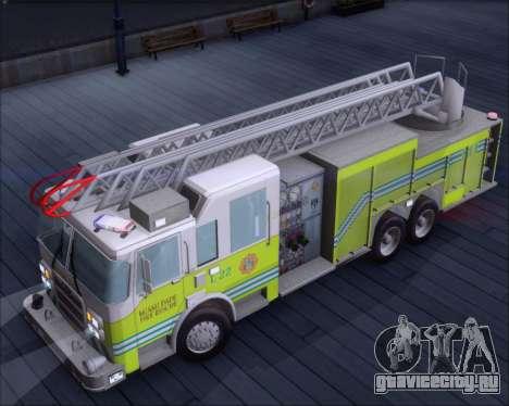 Pierce Arrow XT Miami Dade FD Ladder 22 для GTA San Andreas вид сзади