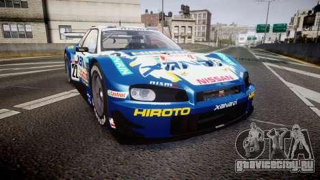 Nissan Skyline R34 2003 JGTC Xanavi Hiroto для GTA 4