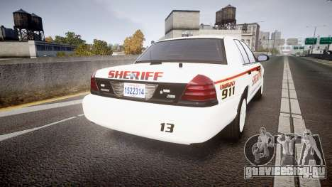 Ford Crown Victoria Sheriff [ELS] rims2 для GTA 4 вид сзади слева