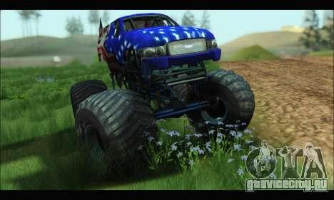 Monster The Liberator (GTA V) для GTA San Andreas вид сзади слева