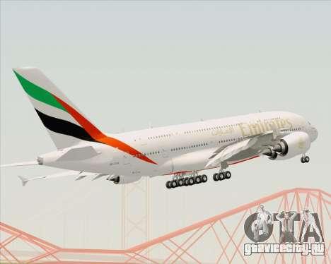 Airbus A380-800 Emirates (A6-EDH) для GTA San Andreas вид сверху