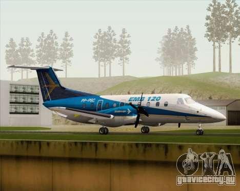 Embraer EMB 120 Brasilia Embraer Livery для GTA San Andreas вид слева