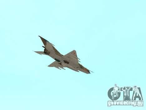Миг 21 ВВС СССР для GTA San Andreas вид снизу