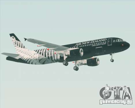 Airbus A320-200 Air New Zealand для GTA San Andreas вид снизу