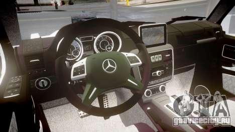 Mercedes-Benz G65 Brabus rims2 для GTA 4 вид изнутри