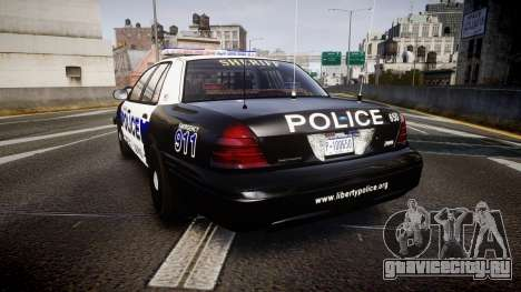 Ford Crown Victoria Police Algonquin [ELS] для GTA 4 вид сзади слева