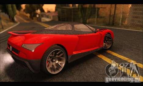 Grotti Cheetah v3 (GTA V) для GTA San Andreas вид сзади слева