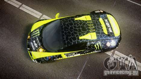 Bugatti Veyron Super Sport 2011 [EPM] Ken Block для GTA 4 вид справа