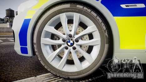 BMW 525d F11 2014 Metropolitan Police [ELS] для GTA 4 вид сзади