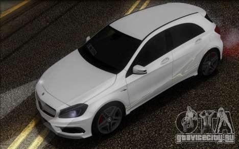 Mercedes-Benz A45 AMG для GTA San Andreas вид сзади