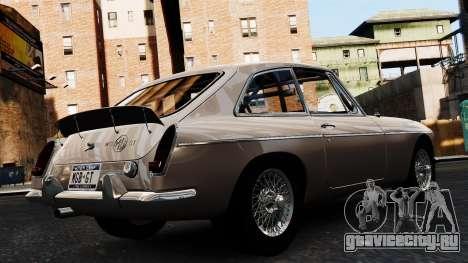 MGB GT 1965 для GTA 4 вид слева