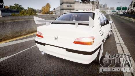 Peugeot 406 Taxi [Final] для GTA 4 вид сзади слева