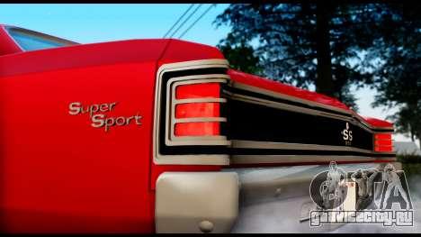Chevrolet Chevelle SS 396 L78 Hardtop Coupe 1967 для GTA San Andreas вид сзади слева