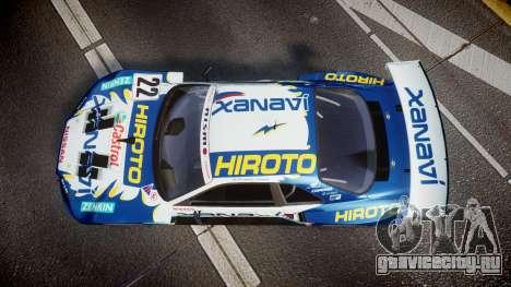 Nissan Skyline R34 2003 JGTC Xanavi Hiroto для GTA 4 вид справа