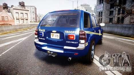Chevrolet Trailblazer Virginia State Police ELS для GTA 4 вид сзади слева