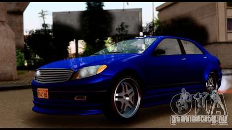 GTA 5 Schafter Bumper для GTA San Andreas вид сзади слева