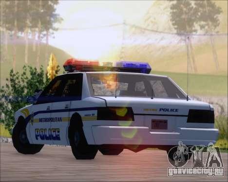 Police LS Metropolitan Police для GTA San Andreas вид изнутри