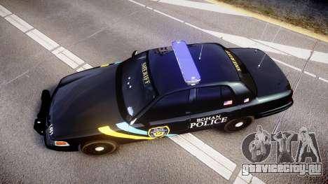 Ford Crown Victoria Sheriff Bohan [ELS] для GTA 4 вид справа