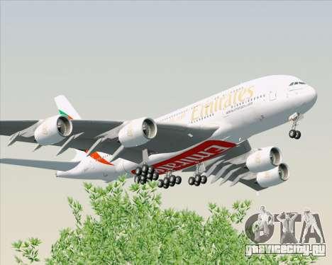 Airbus A380-800 Emirates (A6-EDH) для GTA San Andreas вид сзади