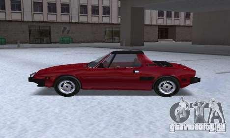 Fiat Bertone X1 9 для GTA San Andreas вид слева
