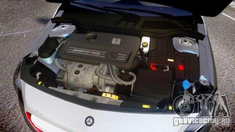Mersedes-Benz A45 AMG PJs2 для GTA 4 вид изнутри