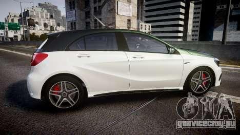 Mersedes-Benz A45 AMG PJs3 для GTA 4 вид слева