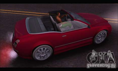 Enus Cognoscenti Cabrio (GTA V) для GTA San Andreas вид сзади
