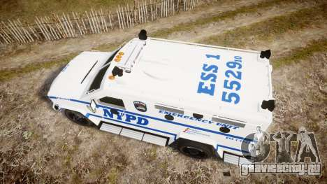 Lenco BearCat NYPD ESU [ELS] для GTA 4 вид справа